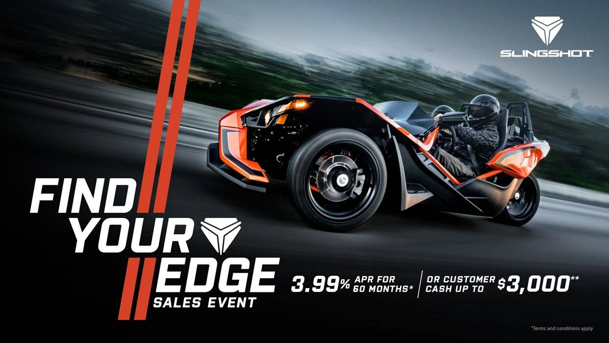 Slingshot Find Your Edge Sales Event