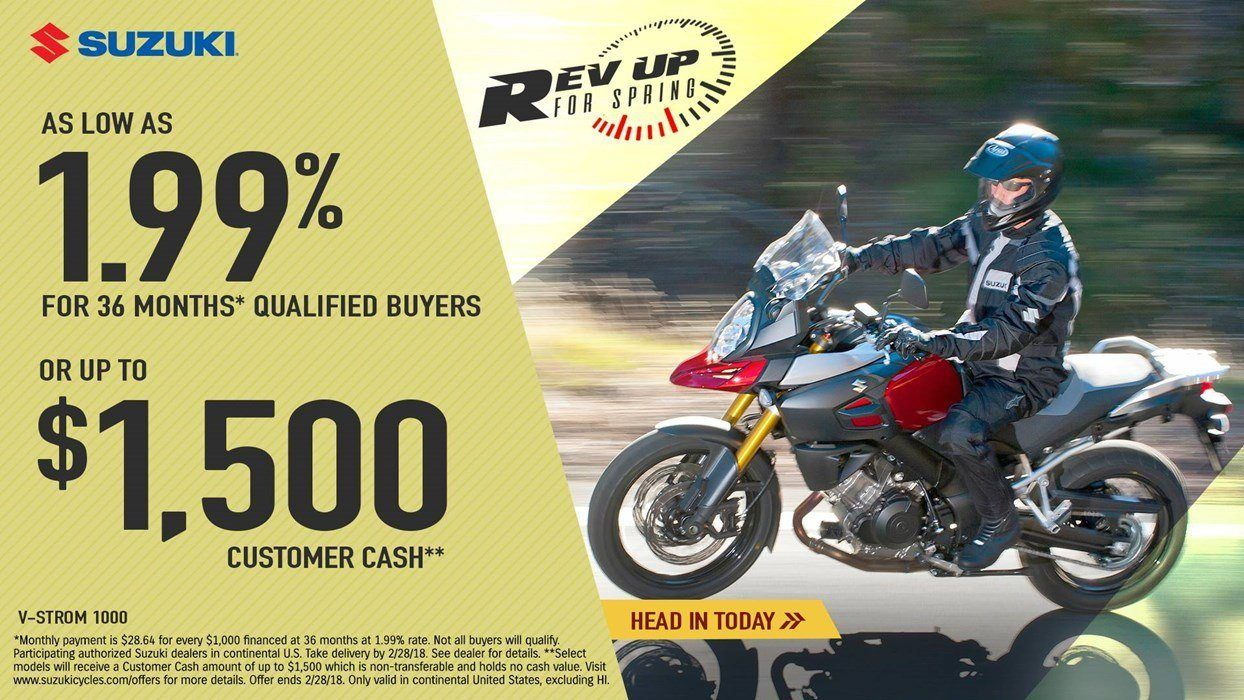 Suzuki - Rev Up for Spring for Dualsport and Adventure